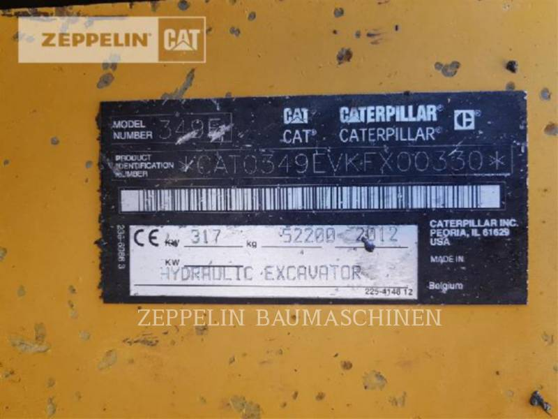CATERPILLAR 履带式挖掘机 349ELVG equipment  photo 8