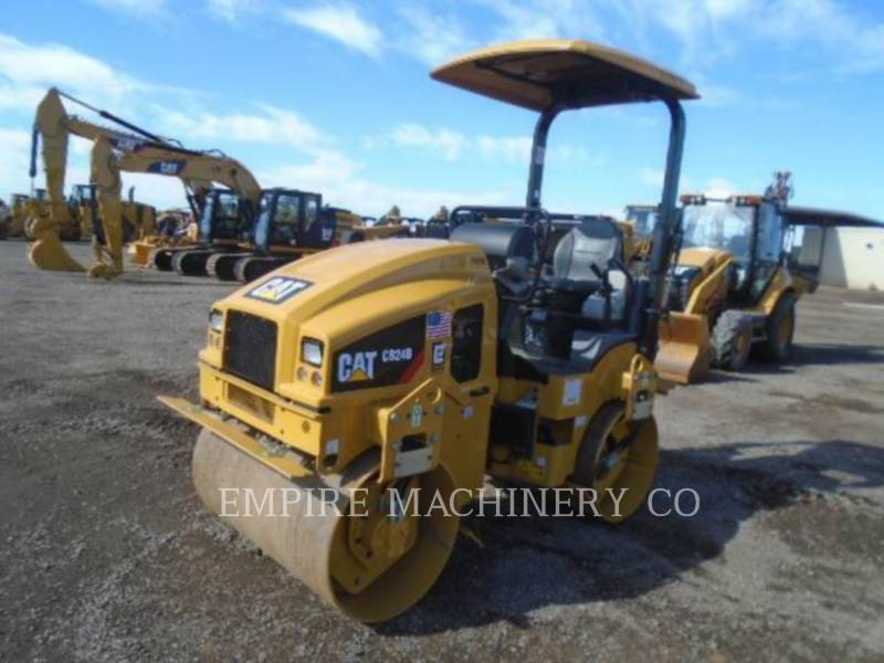 CATERPILLAR VIBRATORY DOUBLE DRUM ASPHALT CB24B LT equipment  photo 4