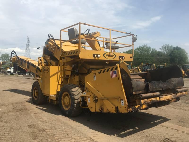 WEILER ASPHALT PAVERS E1250A equipment  photo 4