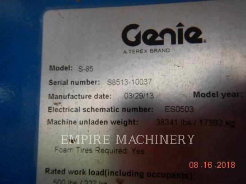 GENIE INDUSTRIES SONSTIGES S-85 equipment  photo 5