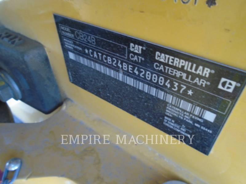 CATERPILLAR COMPATTATORE PER ASFALTO A DOPPIO TAMBURO VIBRANTE CB24B equipment  photo 5