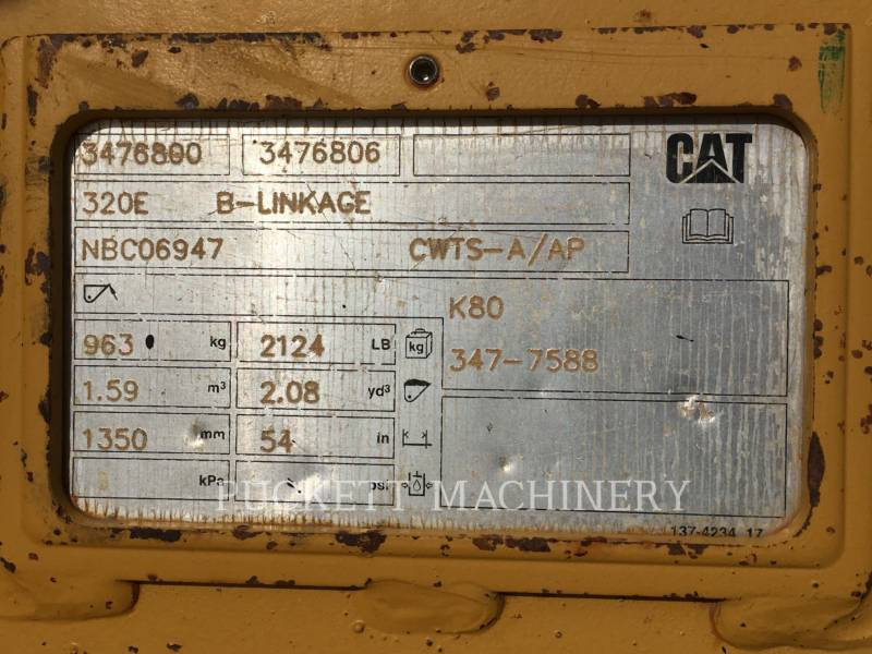 CATERPILLAR KETTEN-HYDRAULIKBAGGER 320EL equipment  photo 10