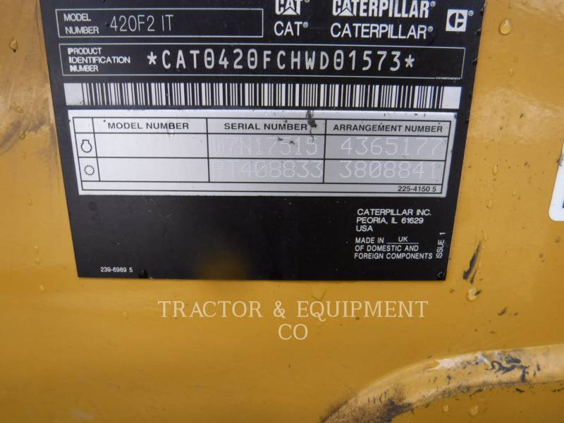 CATERPILLAR BAGGERLADER 420F2IT equipment  photo 2