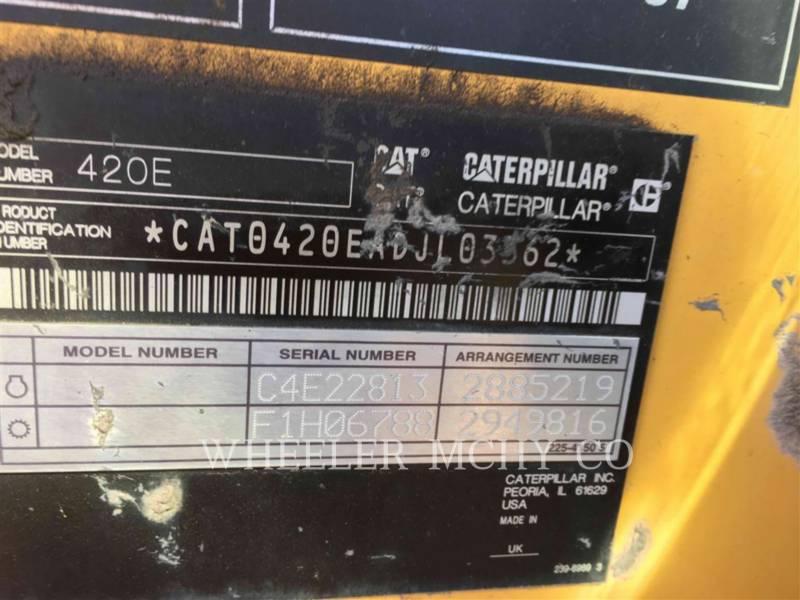 CATERPILLAR BACKHOE LOADERS 420E E equipment  photo 8