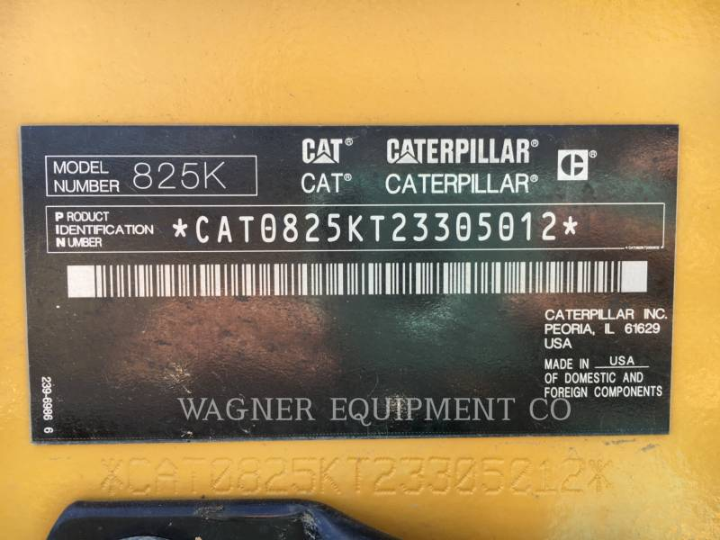 CATERPILLAR COMPACTORS 825K equipment  photo 5