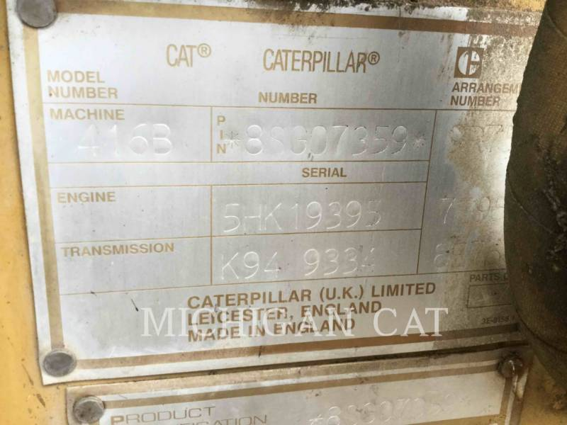 CATERPILLAR BACKHOE LOADERS 416B C equipment  photo 9