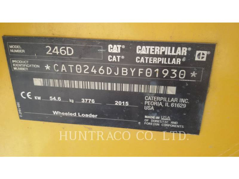 CATERPILLAR SKID STEER LOADERS 246 D equipment  photo 11