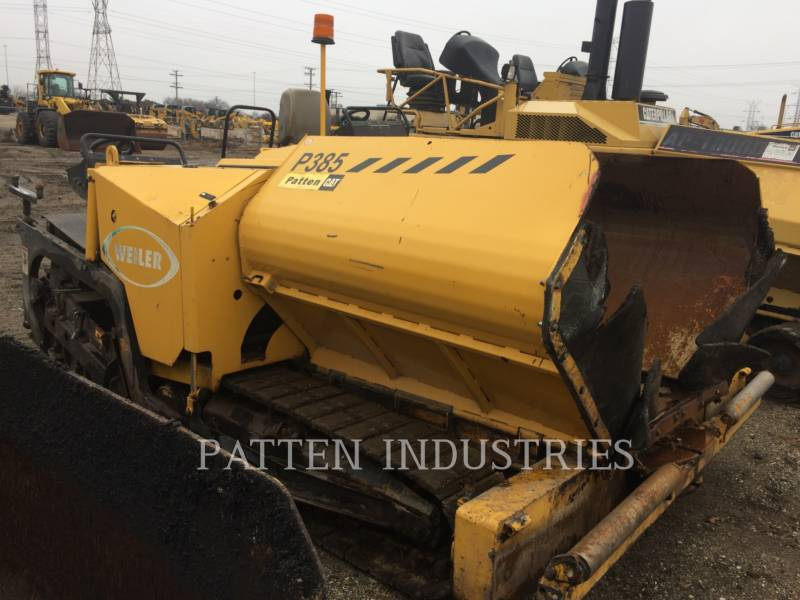 WEILER ASPHALT PAVERS P385 equipment  photo 3