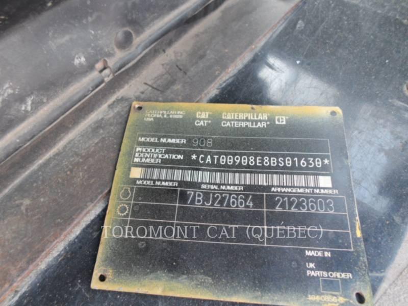 CATERPILLAR RADLADER/INDUSTRIE-RADLADER 908 equipment  photo 8
