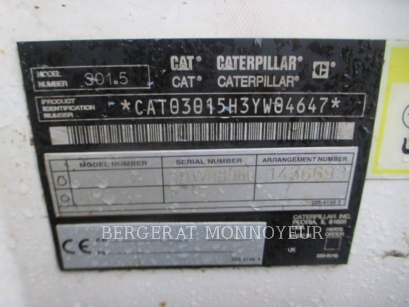 CATERPILLAR EXCAVADORAS DE CADENAS 301.5 equipment  photo 8