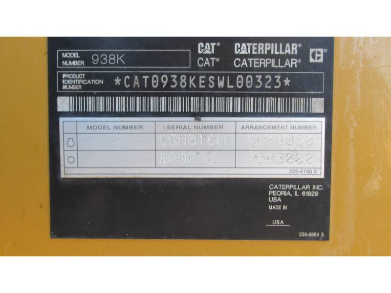 CATERPILLAR CARGADORES DE RUEDAS 938K equipment  photo 19