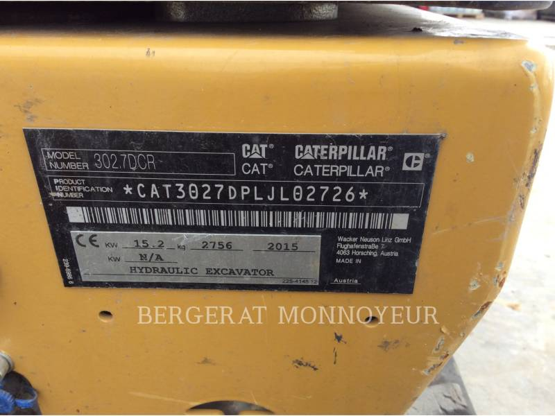 CATERPILLAR ESCAVADEIRAS 302.7D CR equipment  photo 14