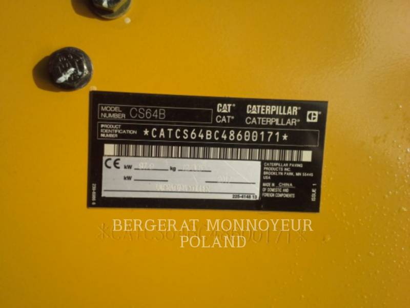 CATERPILLAR COMPACTEUR VIBRANT, MONOCYLINDRE LISSE CS64B equipment  photo 7