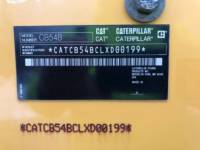 CATERPILLAR VIBRATORY DOUBLE DRUM ASPHALT CB54B equipment  photo 24