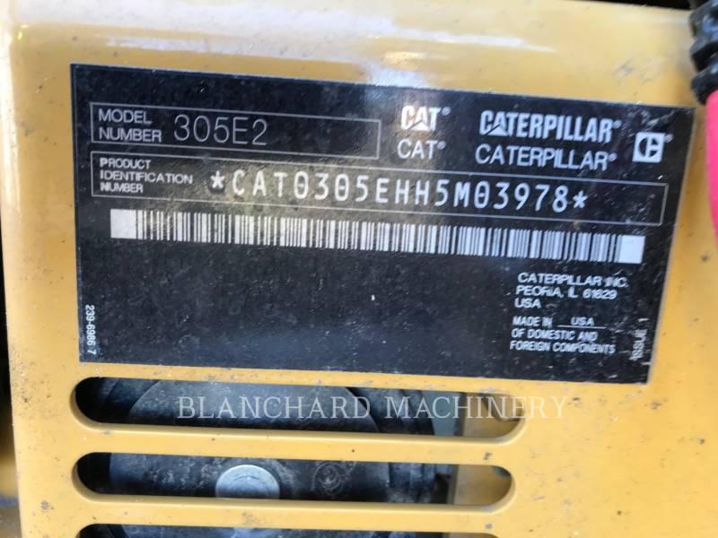 CATERPILLAR TRACK EXCAVATORS 305E2CR equipment  photo 7