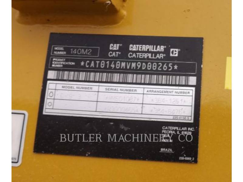 CATERPILLAR NIVELEUSES 140 M2 equipment  photo 7