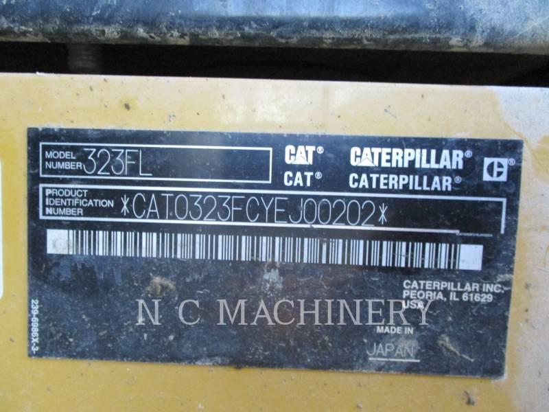 CATERPILLAR TRACK EXCAVATORS 323FL equipment  photo 8