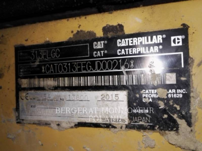 CATERPILLAR KETTEN-HYDRAULIKBAGGER 313FLGC equipment  photo 2