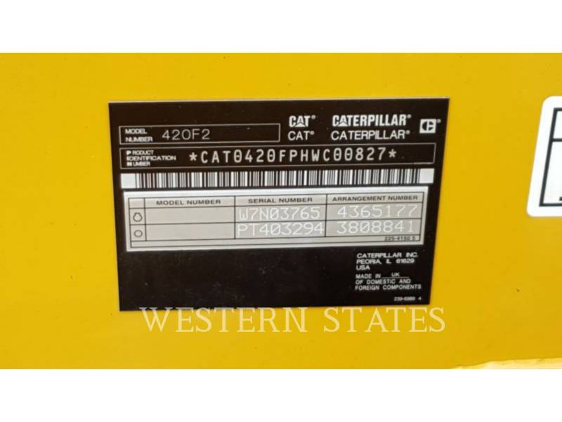 CATERPILLAR CHARGEUSES-PELLETEUSES 420F2 equipment  photo 17