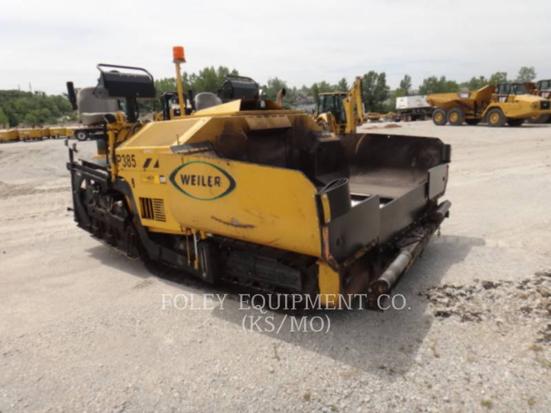 WEILER ASPHALT PAVERS P 385 A equipment  photo 1