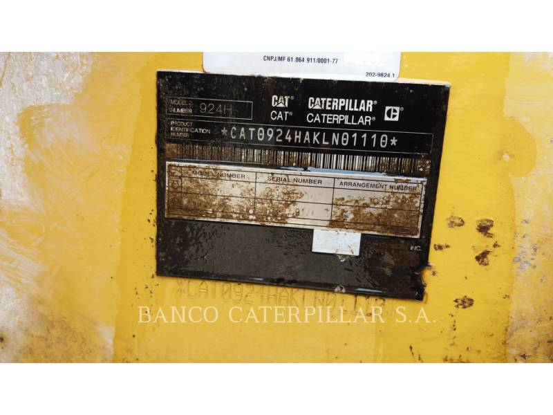 CATERPILLAR CARGADORES DE RUEDAS 924H equipment  photo 6