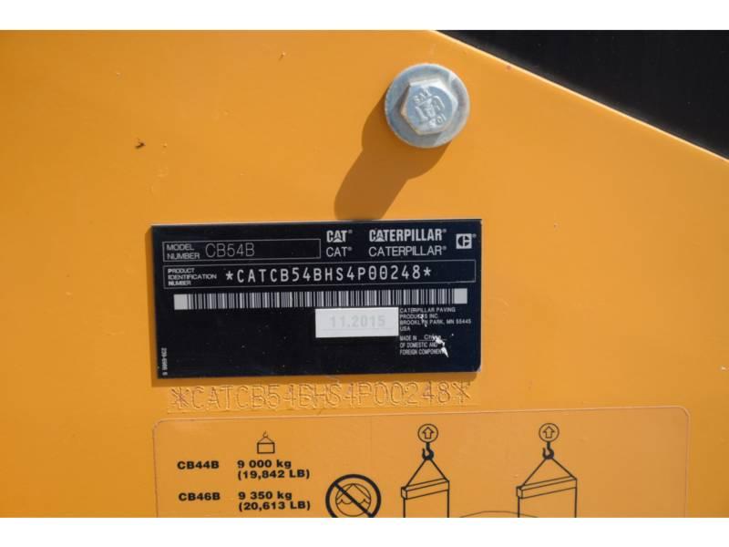 CATERPILLAR TANDEMOWY WALEC WIBRACYJNY DO ASFALTU (STAL-STAL) CB 54 B equipment  photo 5