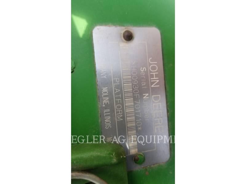 DEERE & CO. HEADERS 930F equipment  photo 2