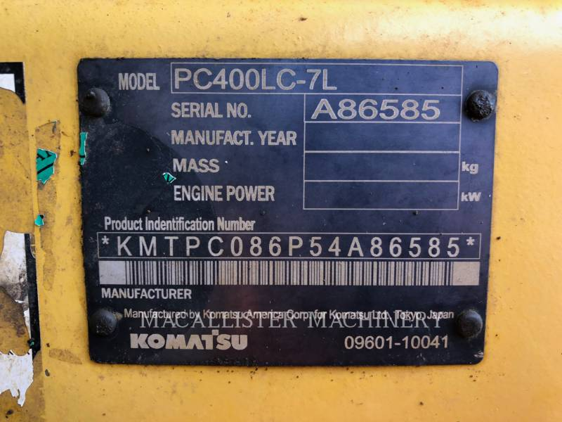 KOMATSU PELLES SUR CHAINES PC400LC-7L equipment  photo 9