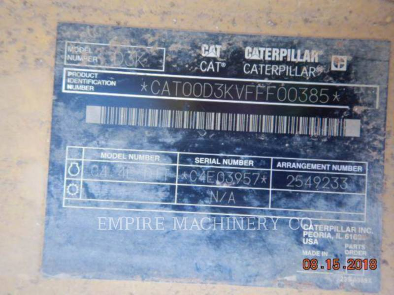 CATERPILLAR TRATORES DE ESTEIRAS D3KXL equipment  photo 5