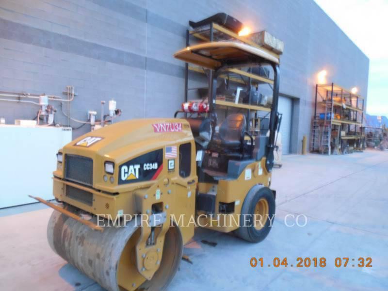 CATERPILLAR TANDEMOWY WALEC WIBRACYJNY DO ASFALTU (STAL-STAL) CC34B equipment  photo 4