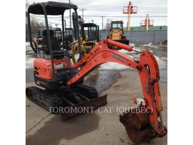 KUBOTA CORPORATION PELLES SUR CHAINES U17 equipment  photo 9