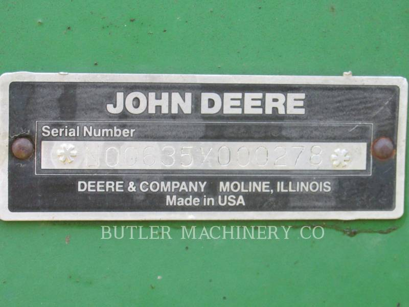 DEERE & CO. 農業用耕作機器 635 equipment  photo 4