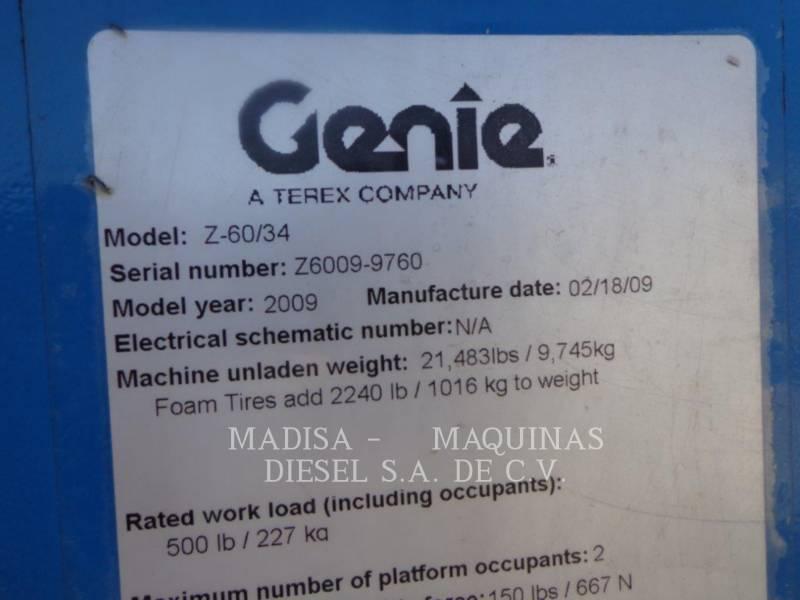 GENIE INDUSTRIES LEVANTAMIENTO - PLUMA Z60/34J RT equipment  photo 10