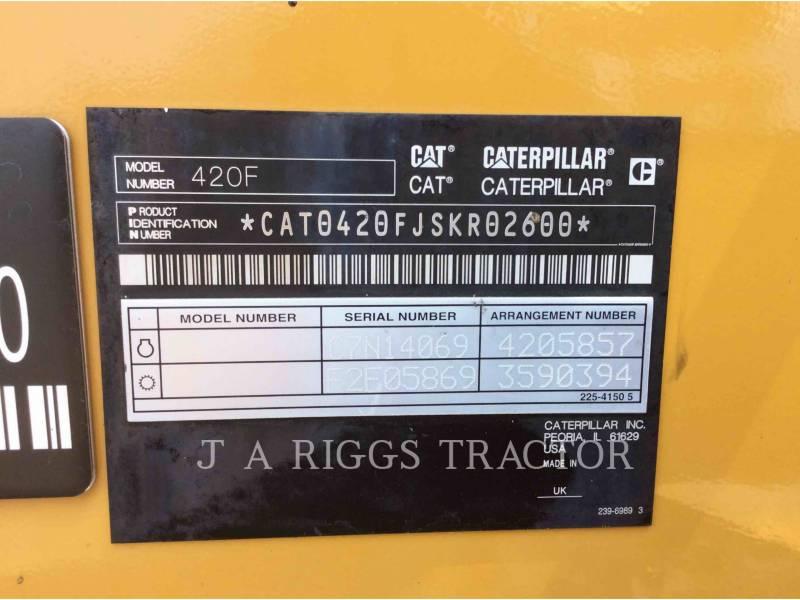 CATERPILLAR BACKHOE LOADERS 420F 4 equipment  photo 9