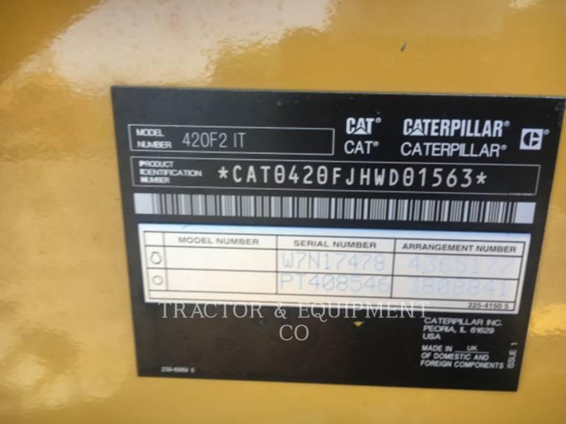 CATERPILLAR BACKHOE LOADERS 420F24ETCB equipment  photo 2