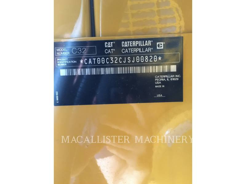 CATERPILLAR STATIONARY GENERATOR SETS C32 equipment  photo 9