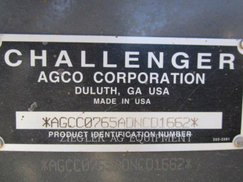 AGCO-CHALLENGER AG TRACTORS MT765D equipment  photo 12