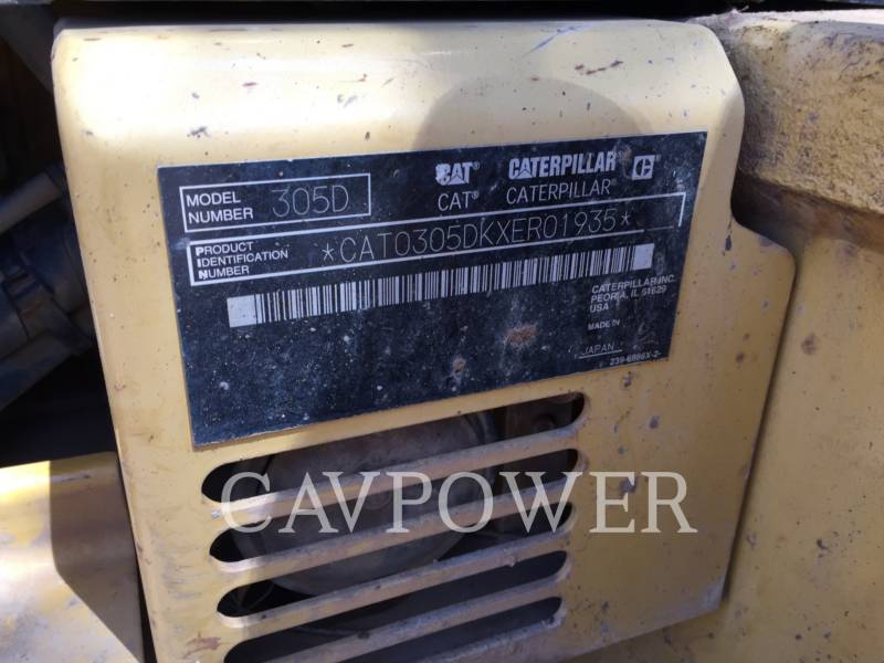CATERPILLAR ESCAVATORI CINGOLATI 305DCR equipment  photo 8