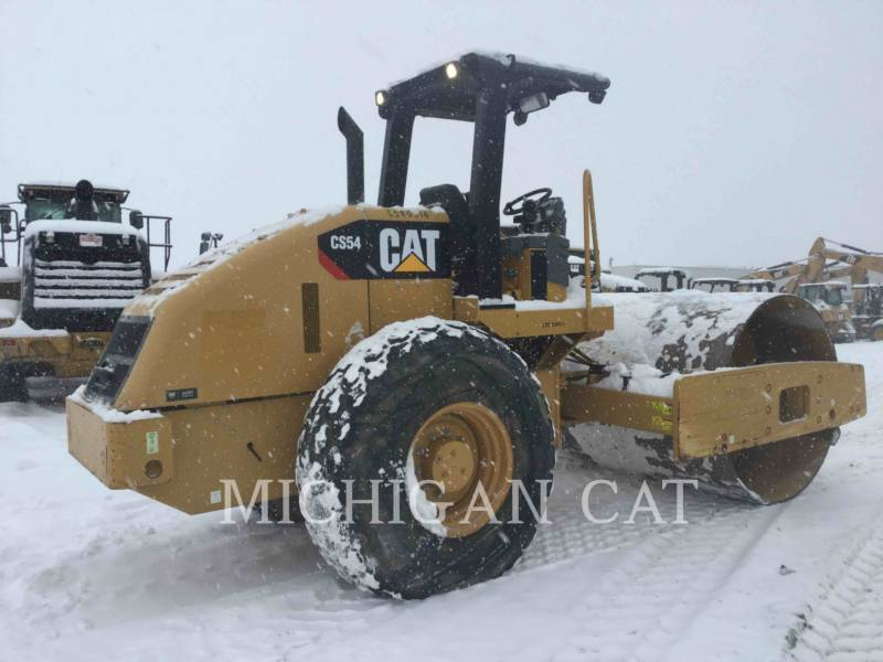 CATERPILLAR EINZELVIBRATIONSWALZE, GLATTBANDAGE CS54 equipment  photo 3