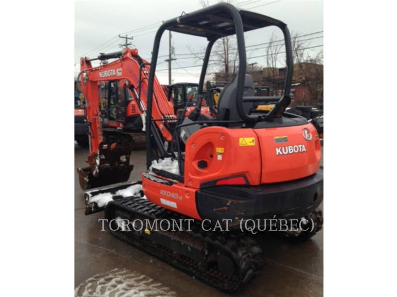 KUBOTA CORPORATION KOPARKI GĄSIENICOWE KX040-4 equipment  photo 8