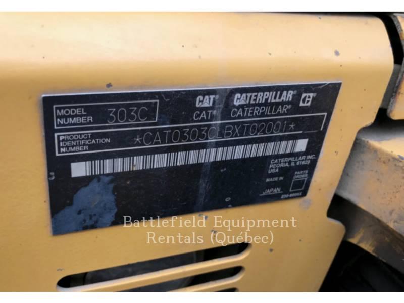 CATERPILLAR TRACK EXCAVATORS 303CCR equipment  photo 9