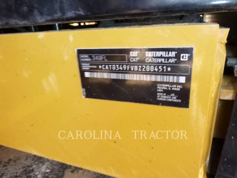 CATERPILLAR TRACK EXCAVATORS 349F equipment  photo 10