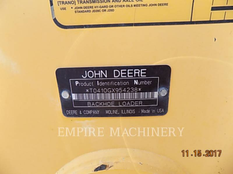 JOHN DEERE BAGGERLADER 410G equipment  photo 15