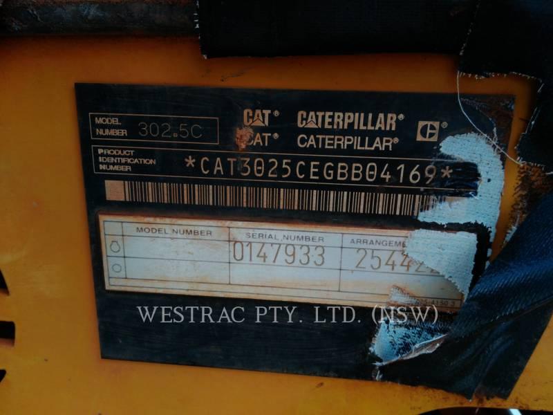 CATERPILLAR KETTEN-HYDRAULIKBAGGER 302.5C equipment  photo 10
