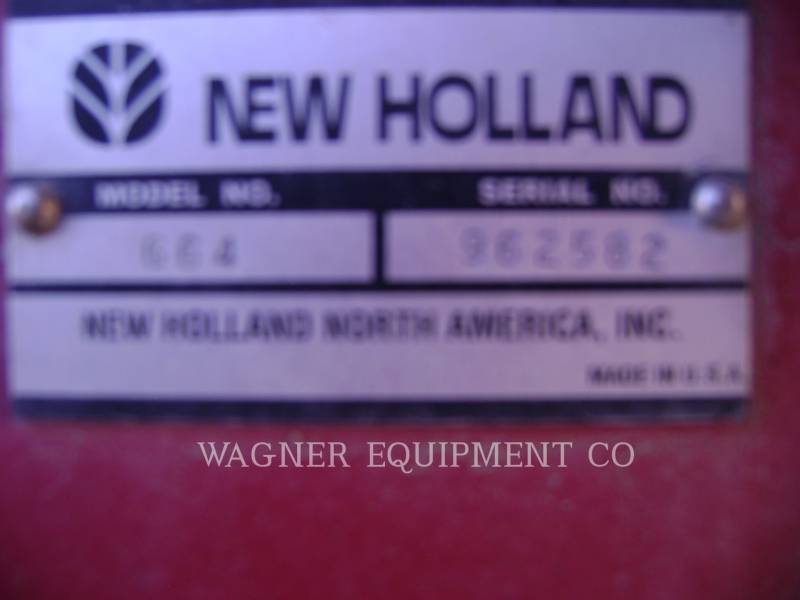 NEW HOLLAND LTD. MATERIELS AGRICOLES POUR LE FOIN 664 equipment  photo 5