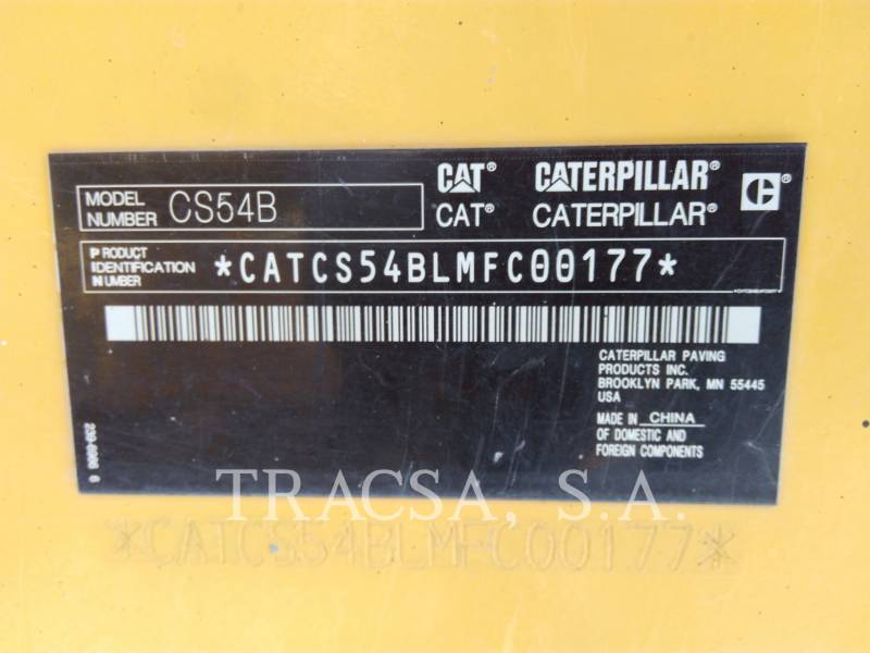 CATERPILLAR COMPACTADORES DE SUELOS CS54BLRC equipment  photo 7