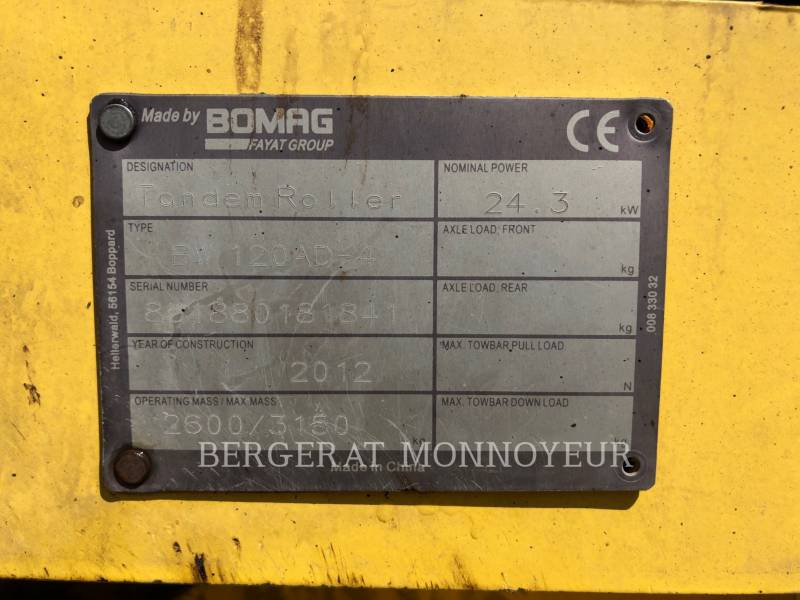 BOMAG COMPACTADORES BW120 equipment  photo 7