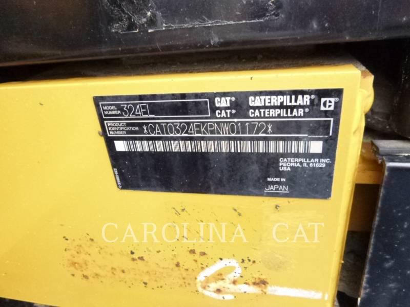 CATERPILLAR TRACK EXCAVATORS 324E LR equipment  photo 6