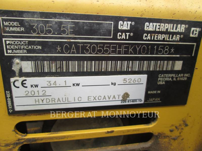 CATERPILLAR TRACK EXCAVATORS 305.5E CR equipment  photo 12