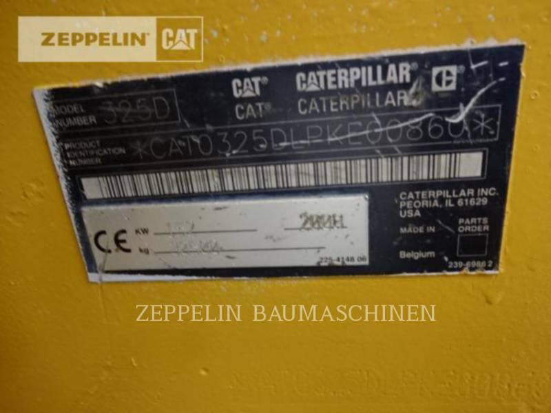CATERPILLAR TRACK EXCAVATORS 325DLN equipment  photo 9